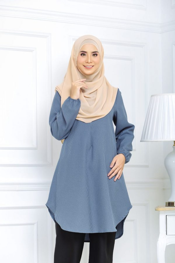 Blouse Muslimah Isabell blue