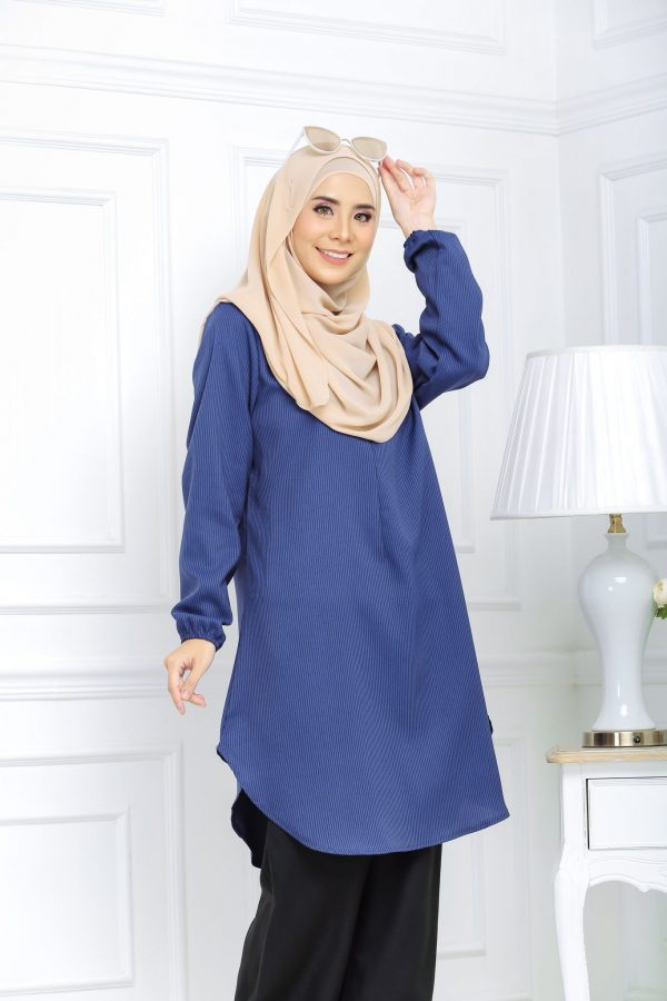 Blouse Muslimah Isabell royal blue