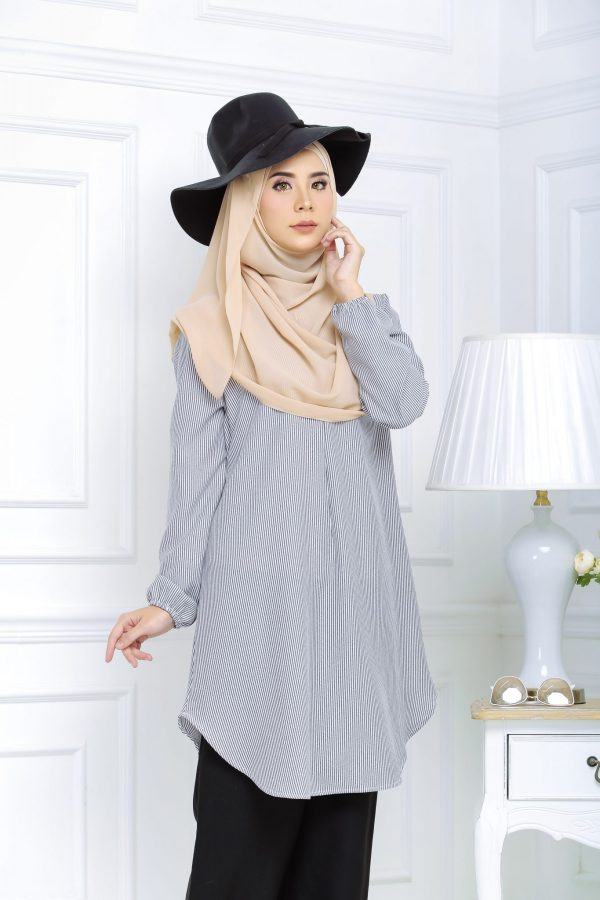 Blouse Muslimah Isabell black white
