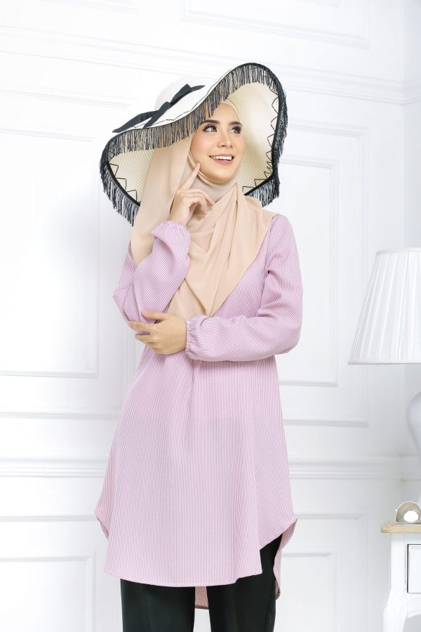Blouse Muslimah Isabell light pink