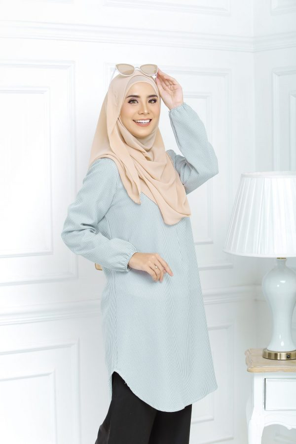 Blouse Muslimah Isabell silver green