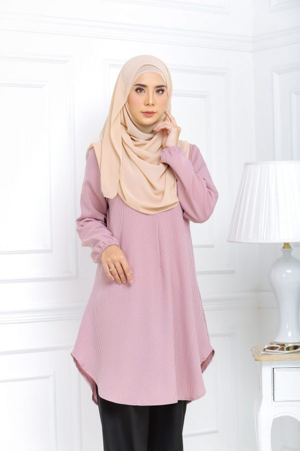 Blouse Muslimah Isabell light red