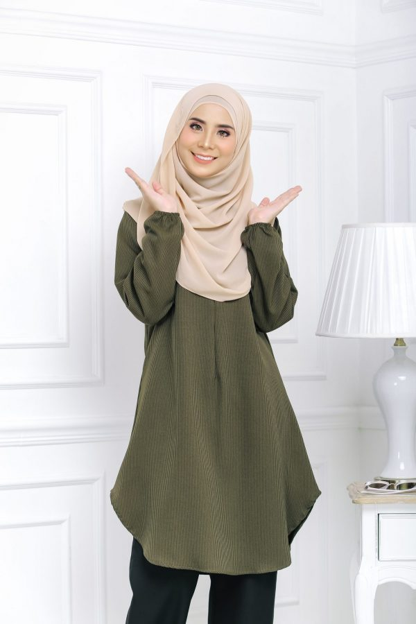 Blouse Muslimah Isabell brown green