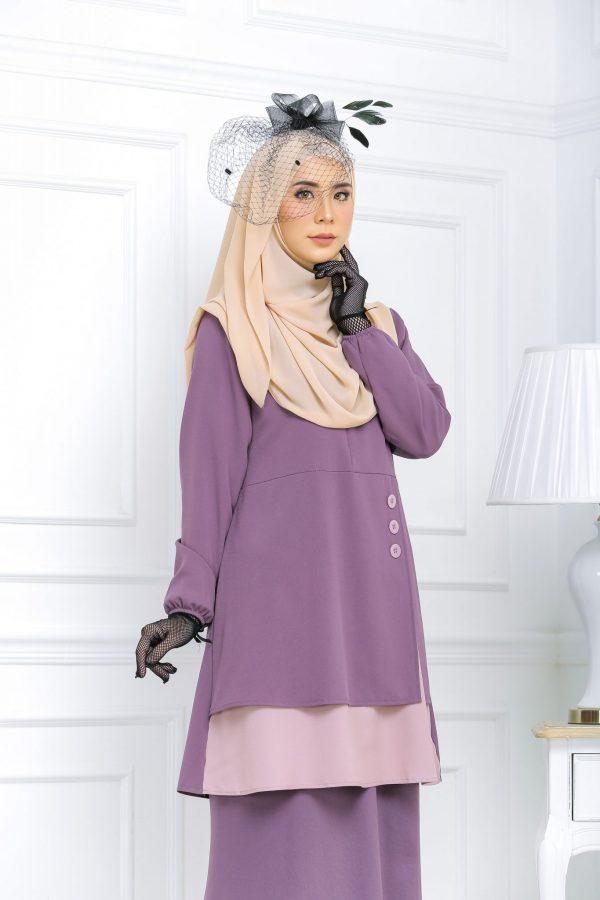 Blouse Muslimah hannah purple mauve